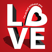 Love 3  Print by Mark Ashkenazi
