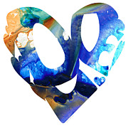 Buy Prints - Love 4 - Heart Hearts Romantic Art Print by Sharon Cummings