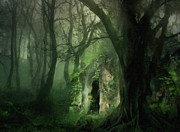 Landscape Digital Paintings - Love Affair With A Forest by Zeana Romanovna