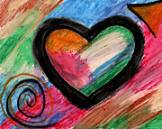 Christian Art Pastels - Love by Alexandra Lopez