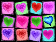 Love All Around  Print by Cindy Edwards