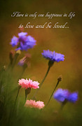 Florescence Posters - Love And Be Loved Poster by Darren Fisher