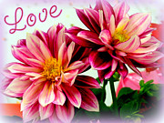 Meanings Posters - Love and Flowers Poster by Kathy  White