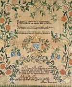 Original Tapestries - Textiles Prints - Love and Friendship Print by Mary A Slusser
