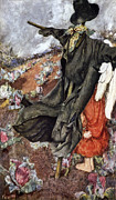 Black Top Digital Art Framed Prints - Love and the Scarecrow Framed Print by Eleanor Fortescue Brickdale