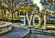 Sounds Digital Art - LOVE at Dupont Circle by John Jack