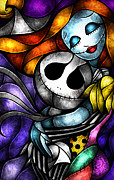 Nightmare Before Christmas Prints - Love at its Darkest Print by Mandie Manzano