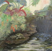 Pond In Park Originals - Love at the Conservatory by Terri Messinger