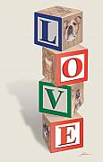 Harold Shull Metal Prints - Love Blocks Metal Print by Harold Shull