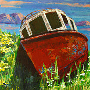 Picture Painting Originals - Love boat by Patricia Awapara