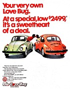 Vw Beetle Framed Prints - Love Bug Framed Print by Benjamin Yeager