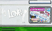 At The Beach Posters - Love Campervans Poster by Tim Gainey
