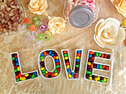 Letters Photo Posters - Love Candies Poster by Lars Ruecker