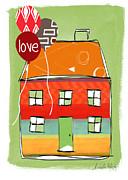 Love Card Print by Linda Woods