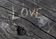 Jonathan Welch - Love carved into wood