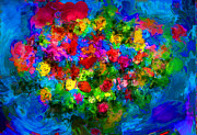 Vase Of Flowers Mixed Media Posters - Love Flowers Poster by Alan Greene