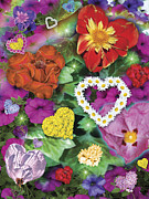 Joy Art - Love Flowers Garden by Alixandra Mullins