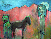 Pop Surrealism Paintings - Love For Horses by Laurie Maves