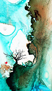 Trees Mixed Media Acrylic Prints - Love Has No Fear - Art By Sharon Cummings Acrylic Print by Sharon Cummings