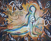Heart Chakra Paintings - Love - heart chakra by Noelle Rollins
