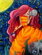 Vixen Paintings - Love Hurts by Kayla Ellsworth