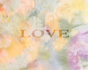 Word Art Digital Art Prints - Love III Print by Ann Powell