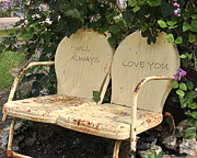 I Will Always Love You Posters - Love in the Garden Poster by Deb Wight