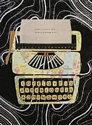 Typewriter Mixed Media - Love Is A Doing Word by Philip Haxby Thompson