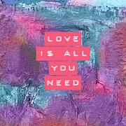 Mixed Media Photos - Love Is All You Need by Viaina