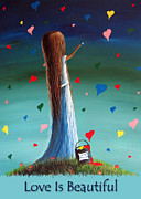 Ambition Painting Prints - Love Is Beautiful by Shawna Erback Print by Shawna Erback