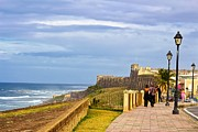 Castillo San Cristobal Posters - Love Is In The Air At Old San Juan Poster by Sandra Pena de Ortiz