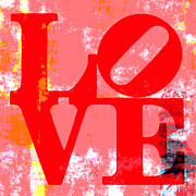 Philadelphia Mixed Media Metal Prints - Love is Love. Metal Print by Brandi Fitzgerald