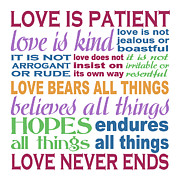 Bears All Things Posters - Love is Patient - Color  Poster by Ginny Gaura