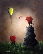 Yellow Fairy Paintings - Love Is Playful by Shawna Erback by Shawna Erback