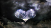 Lightning Digital Art - Love is Powerful by Matt Molloy