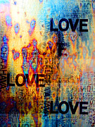 Expression Prints - Love Print by Jenny Rainbow