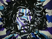 Jimi Hendrix Painting Originals - Love Jimi Crazy Smoke Real Love by Eric Maddix