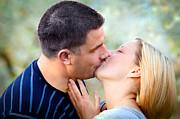 Love Kissing Couple Print by Michal Bednarek