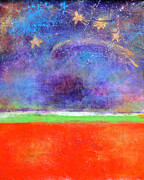 Night Sky Mixed Media - Love Land and Sky by Johane Amirault