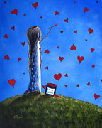 Fantasy Painting Posters - Love Letters by Shawna Erback  Poster by Shawna Erback