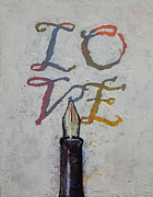 Ink Paintings - Love Letters by Michael Creese