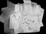 Larysa Luciw Prints - Love Letters to Me Print by Larysa Luciw
