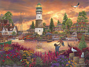 Lighthouse Paintings - Love Lifted Me by Chuck Pinson