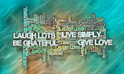 Affirmation Posters - Love Live Laugh Grateful - Positive Affirmations Poster by JT Studios