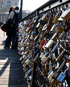 Pont Des Arts Posters - Love Locks Poster by John Daly