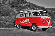 Vw Camper Van Posters - Love Machine  Poster by Rob Hawkins