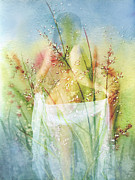 Natural Mixed Media Prints - Love Me In The Misty Dawn Print by Zeana Romanovna