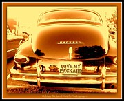Print On Acrylic Prints - Love My Packard Print by Bobbee Rickard