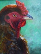 Rooster Kitchen Art Prints - Love My Rooster Print by Kat Logan