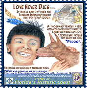 St. Augustine Mixed Media Posters - Love Never Dies Poster by Warren Clark